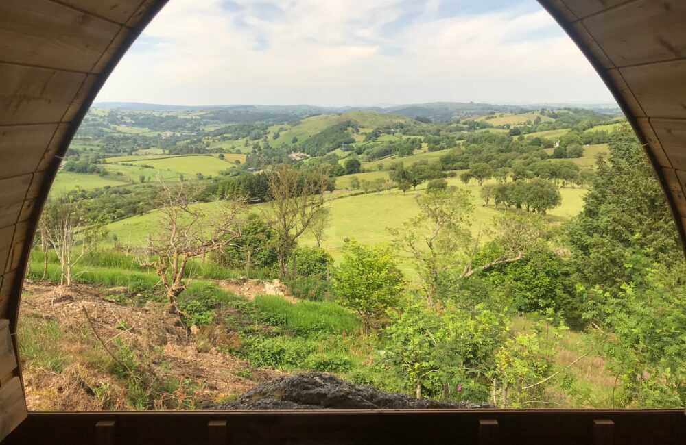 The amazing view from the 'moutain top' sauna.