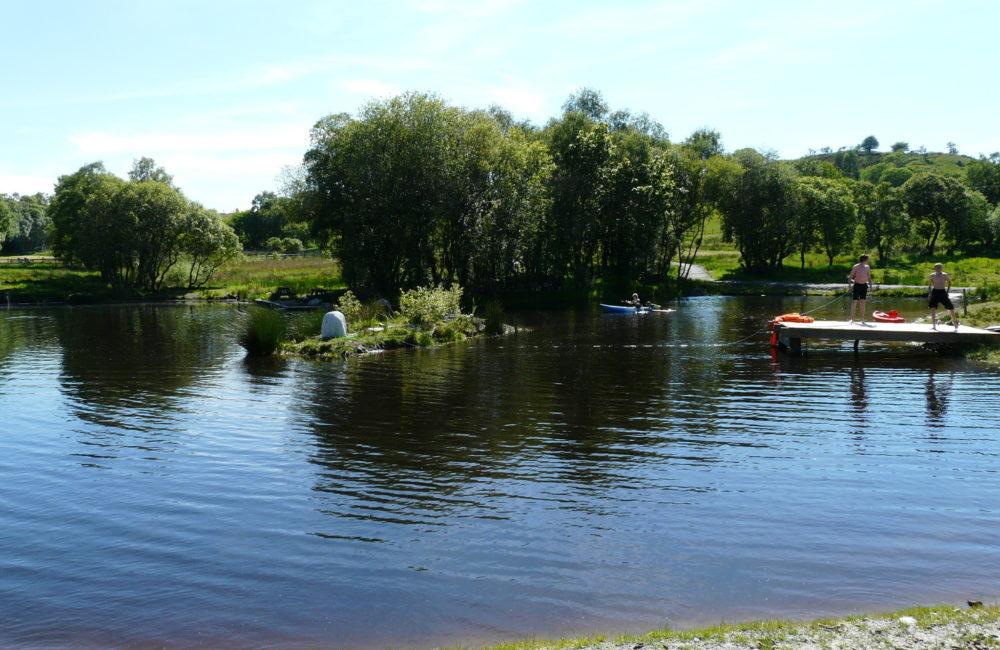 The lake at Tudor Cottage