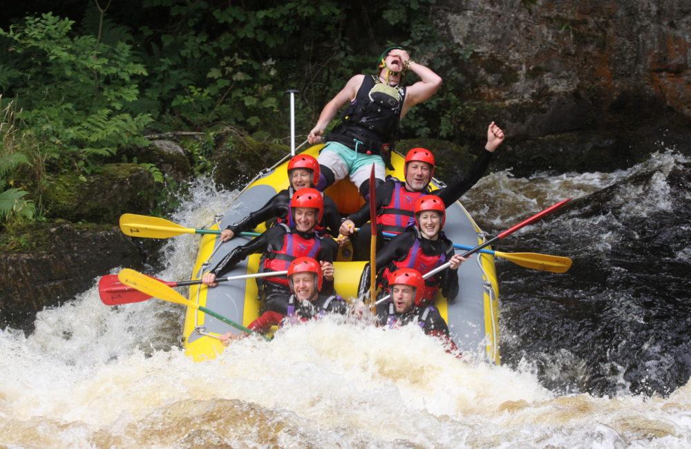 White water rafting in Bala